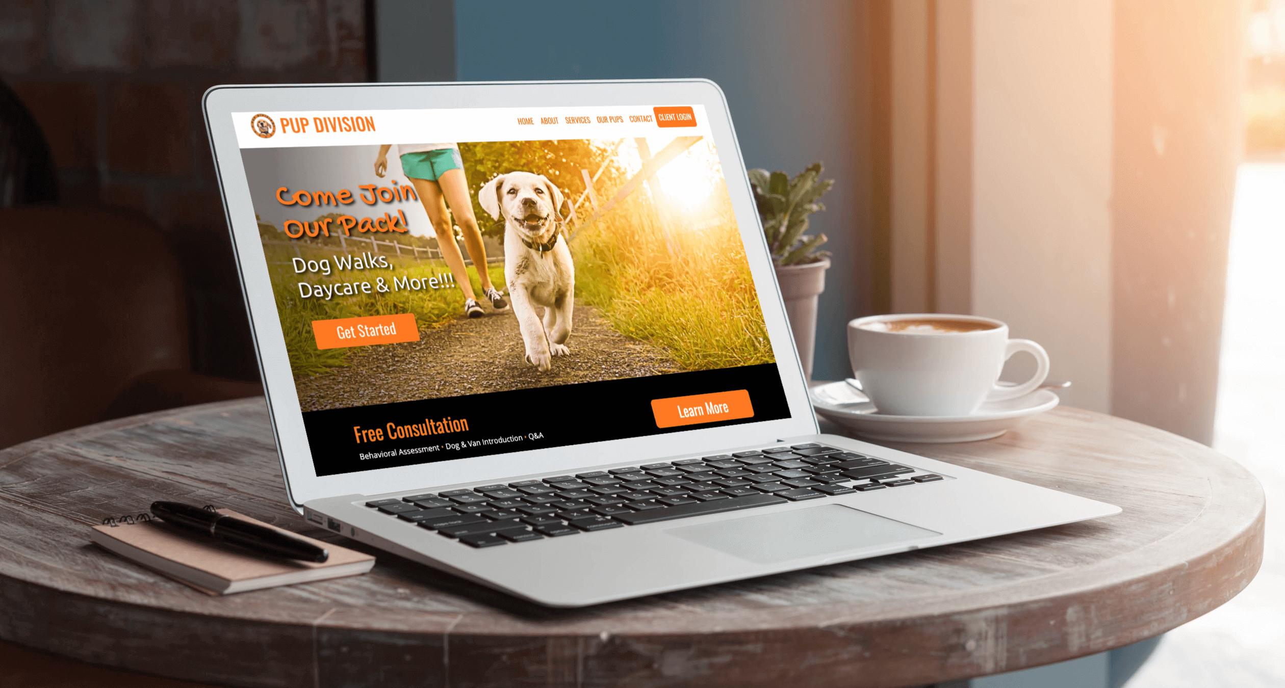 Pup-Division-Dog-Walking-Website-Design